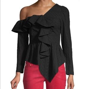 NWT One shoulder ruffle blouse
